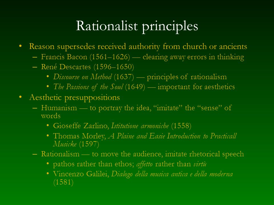 Rationalist principles