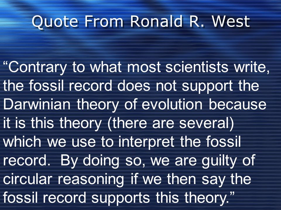 Quote From Ronald R. West