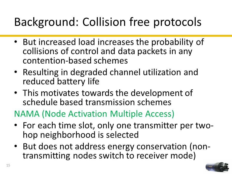 Background: Collision free protocols