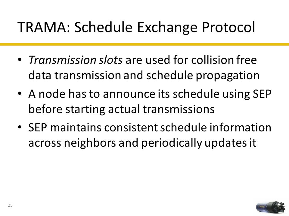 TRAMA: Schedule Exchange Protocol