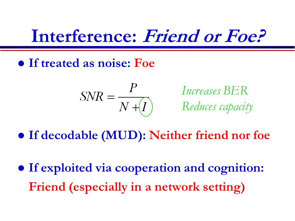 Interference: Friend or Foe