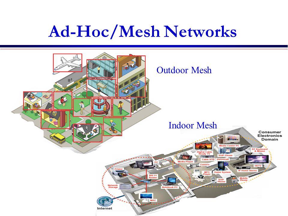 Ad-Hoc/Mesh Networks ce Outdoor Mesh Indoor Mesh