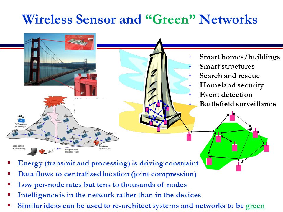 Wireless Sensor and Green Networks