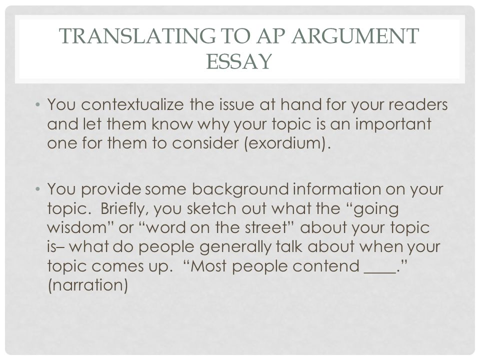 How to contextualize in an essay