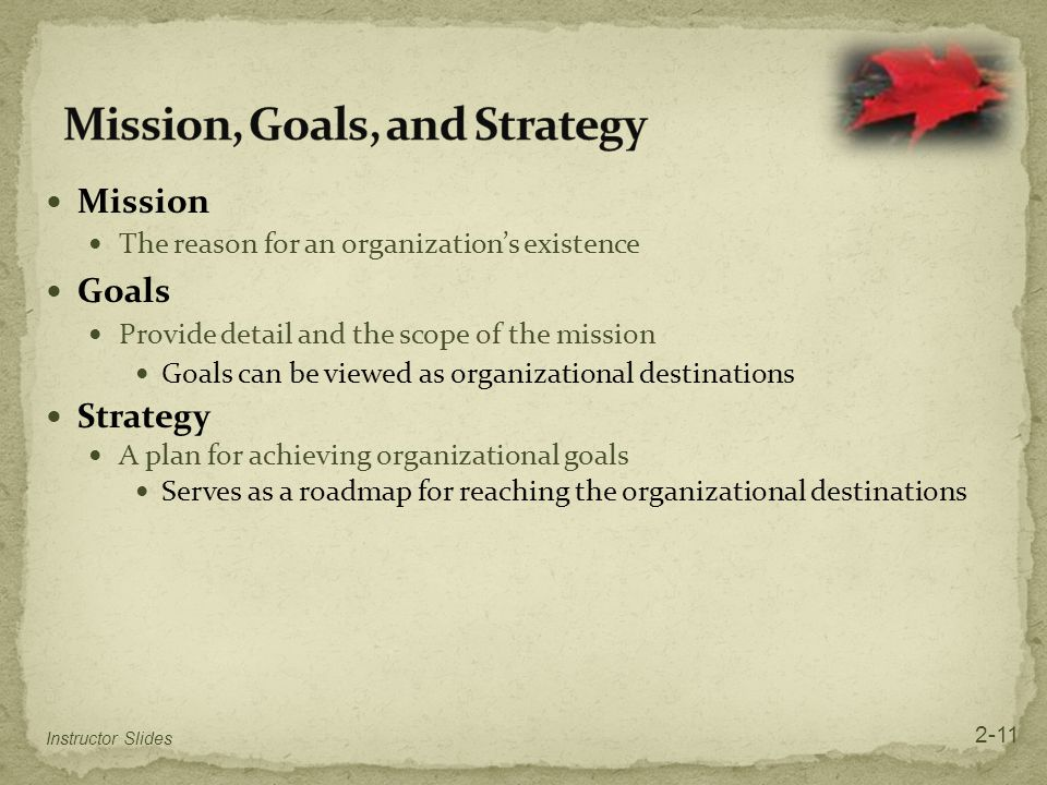 Mission, Goals, and Strategy