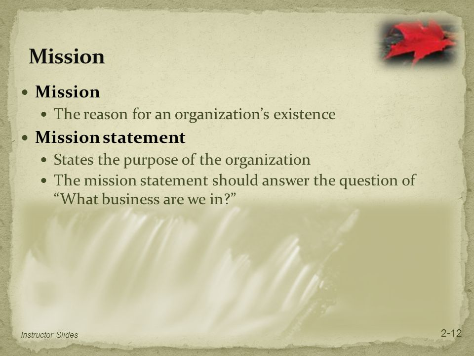 Mission Mission Mission statement