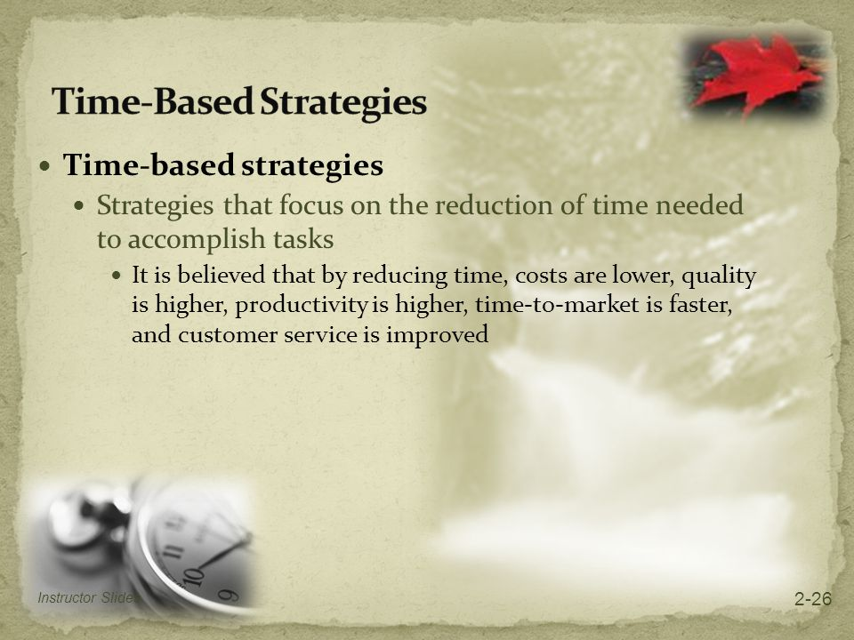 Time-Based Strategies