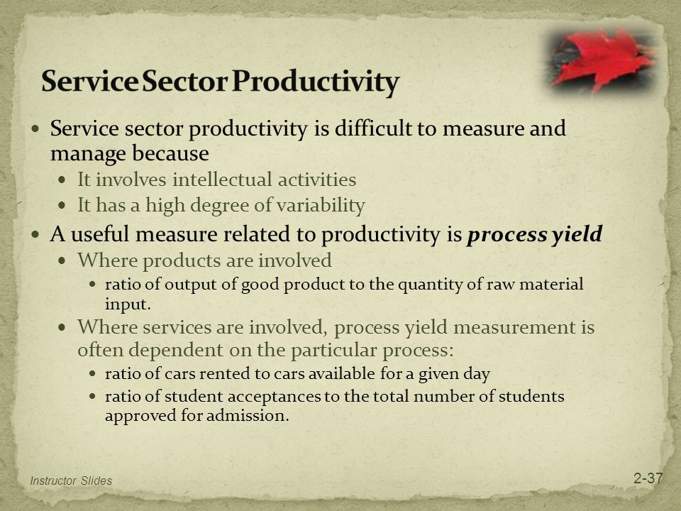 Service Sector Productivity