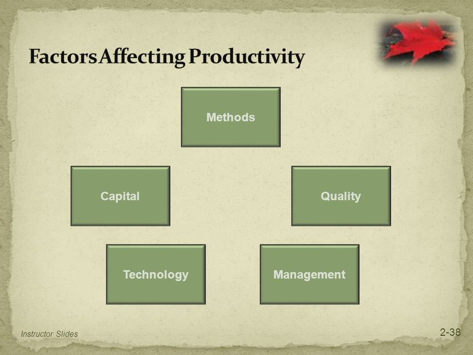 Factors Affecting Productivity