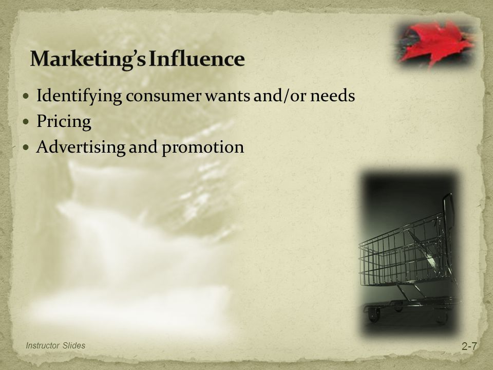 Marketing's Influence