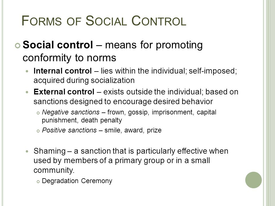 Differences between Formal and Informal Social Control