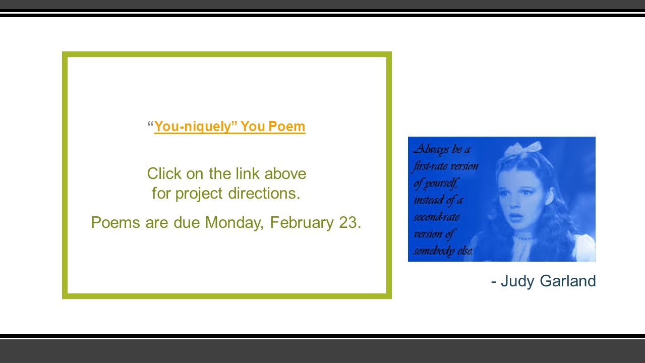 You-niquely You Poem
