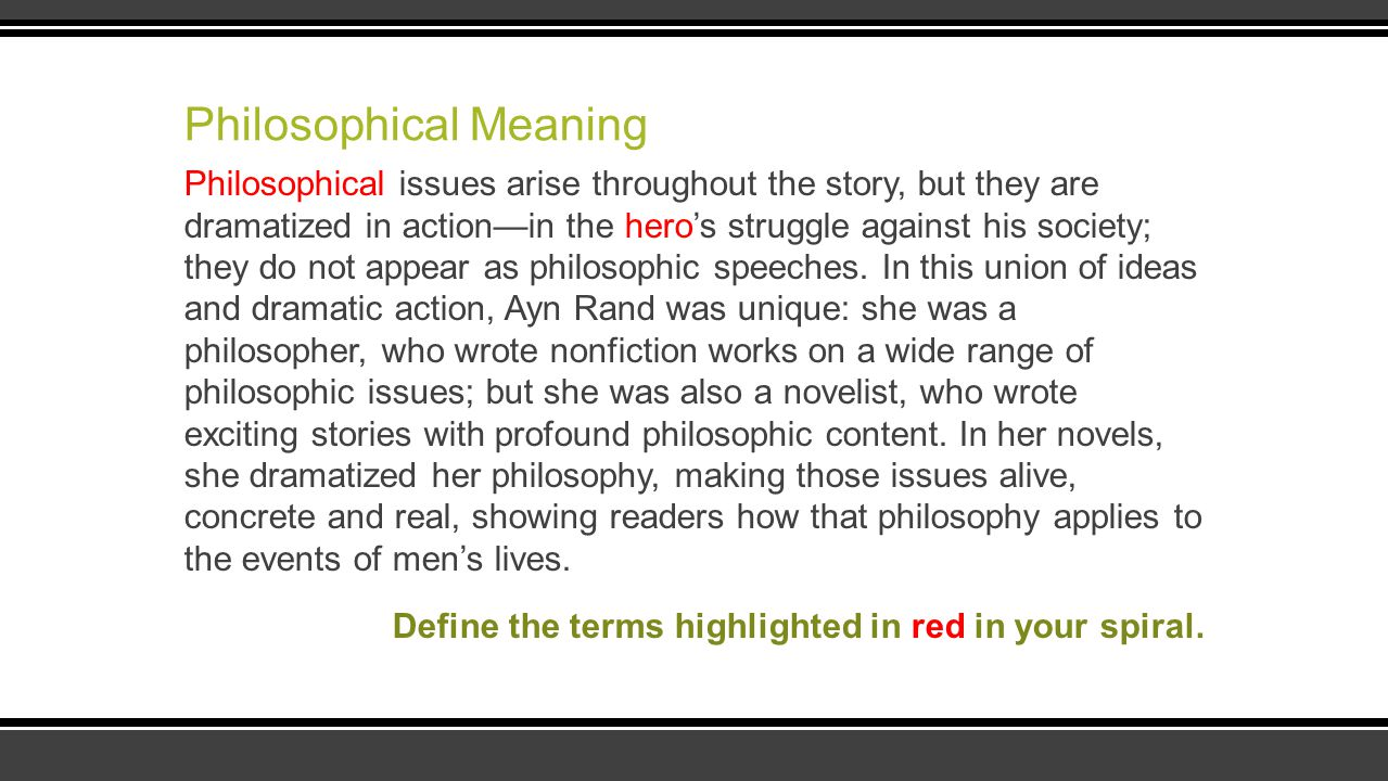 Philosophical Meaning