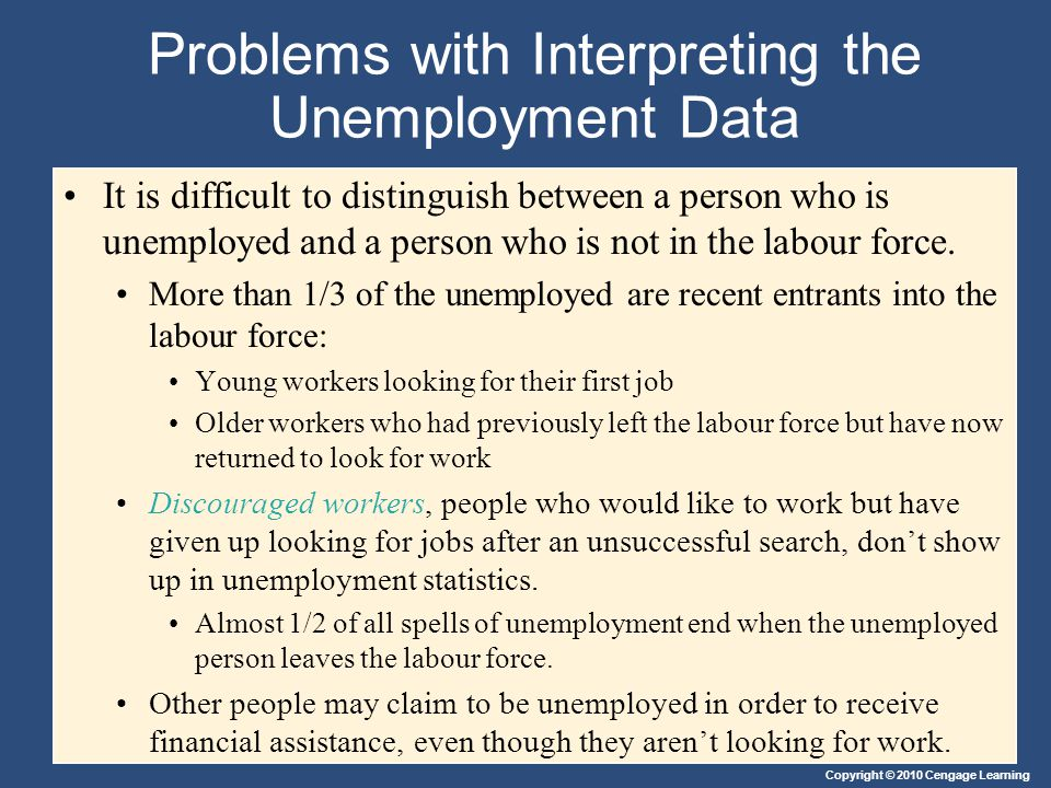 Problems with Interpreting the Unemployment Data