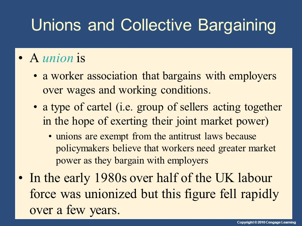 Unions and Collective Bargaining