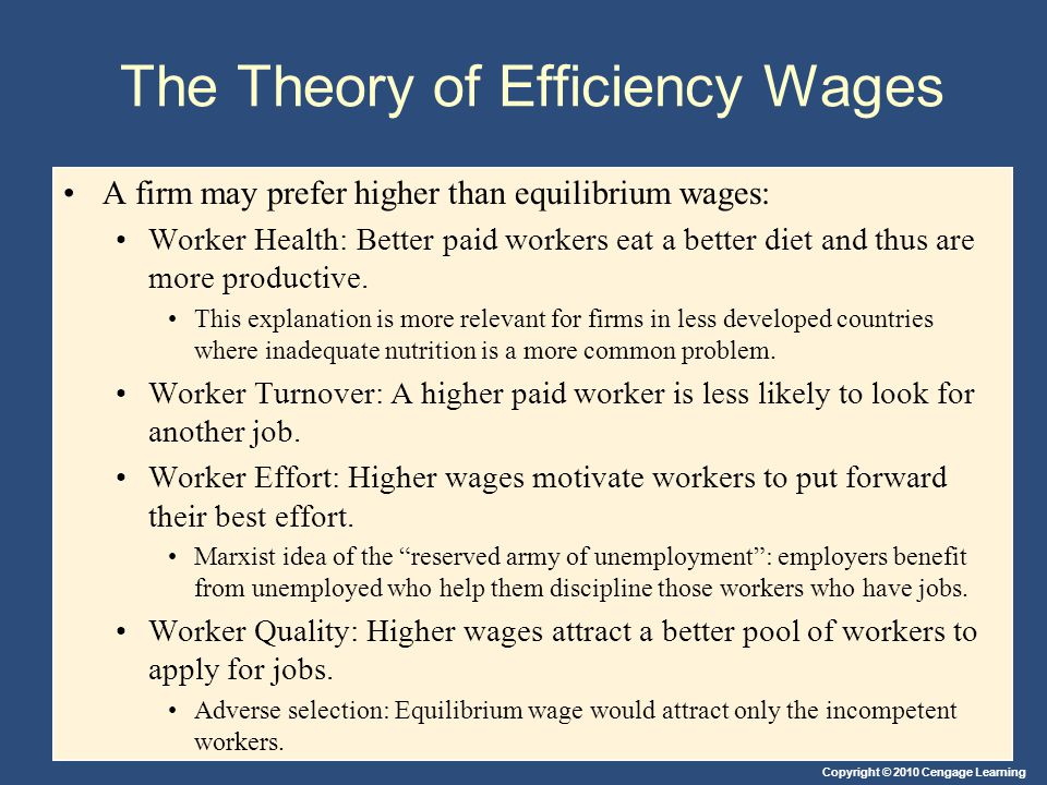The Theory of Efficiency Wages