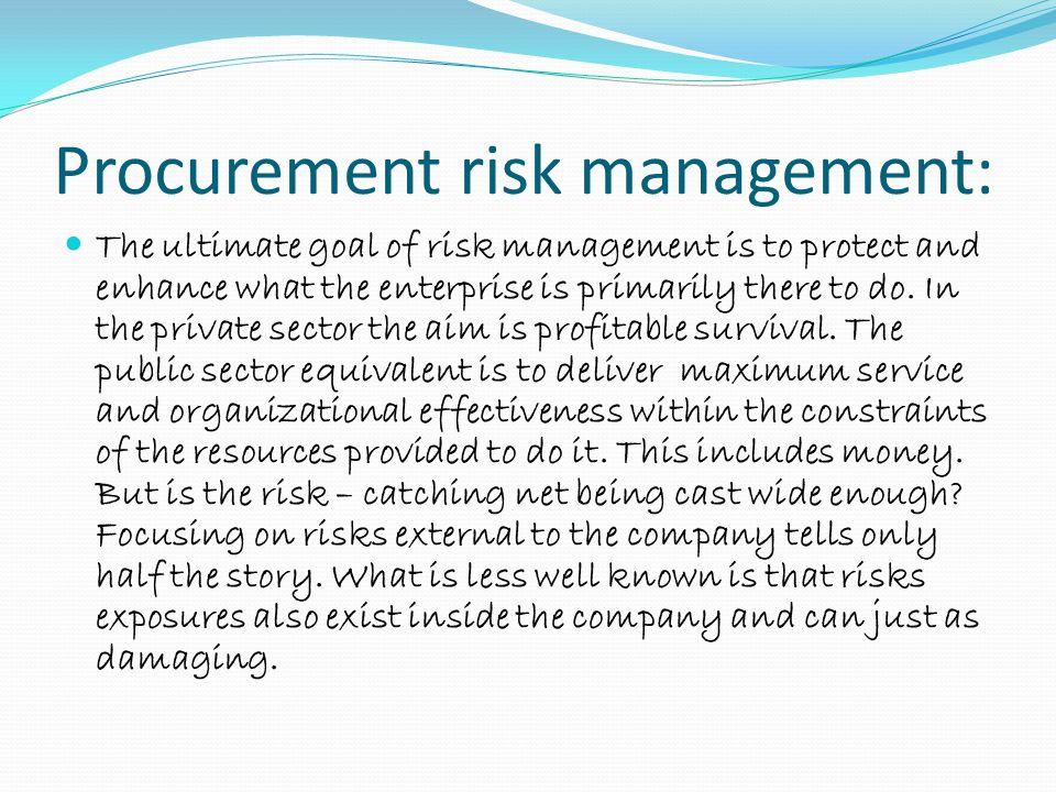 Procurement risk management: