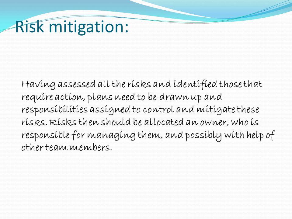 Risk mitigation: