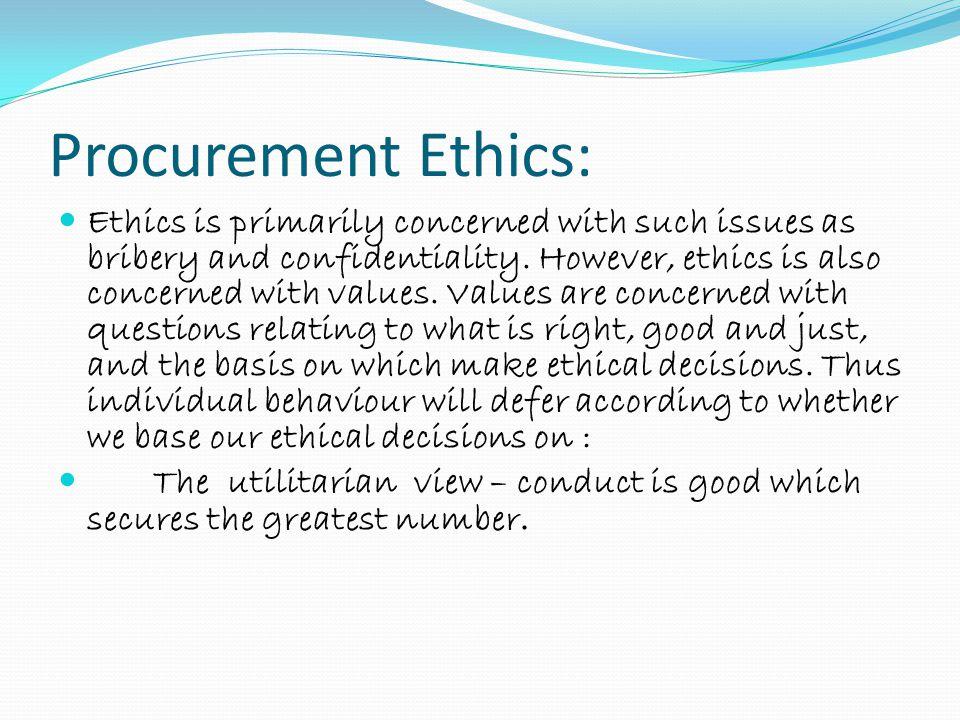 Procurement Ethics: