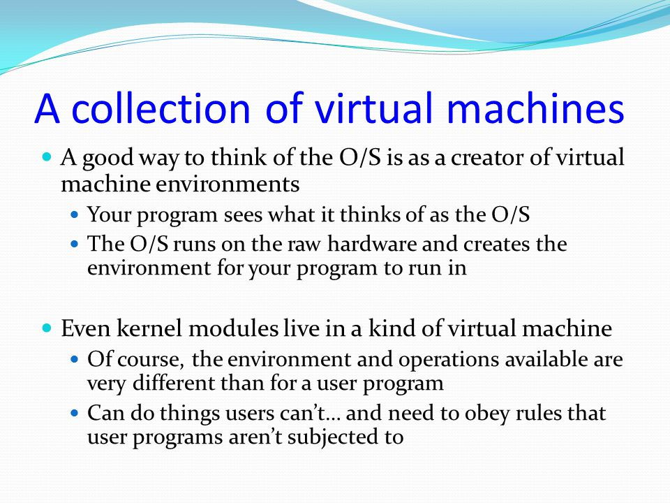 A collection of virtual machines