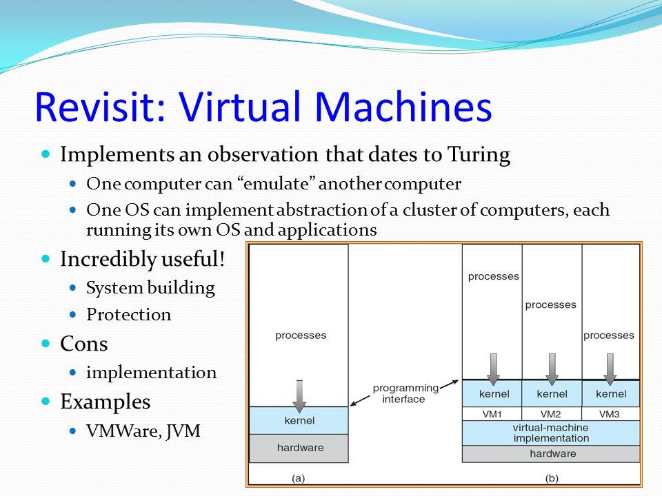 Revisit: Virtual Machines