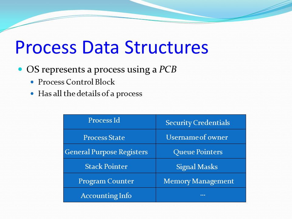 Process Data Structures