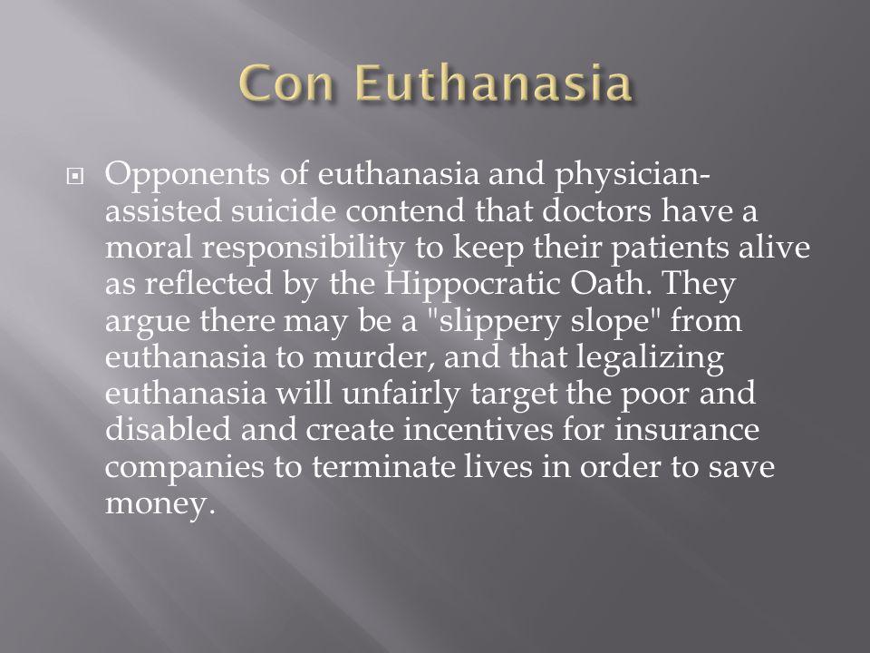 Con Euthanasia