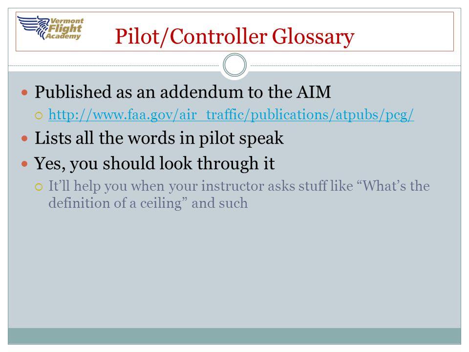 Pilot/Controller Glossary
