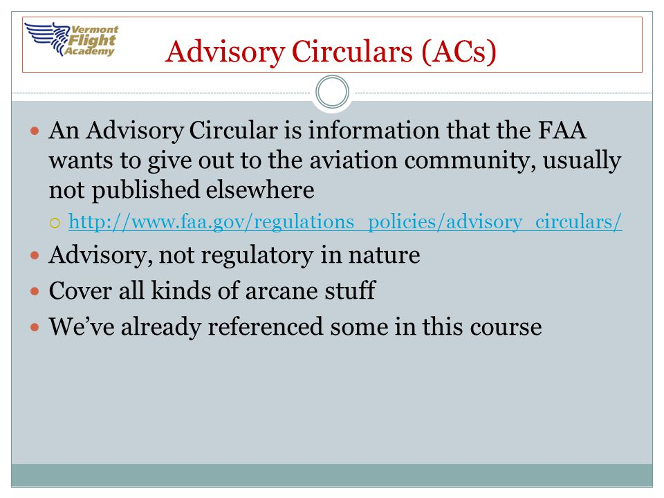 Advisory Circulars (ACs)