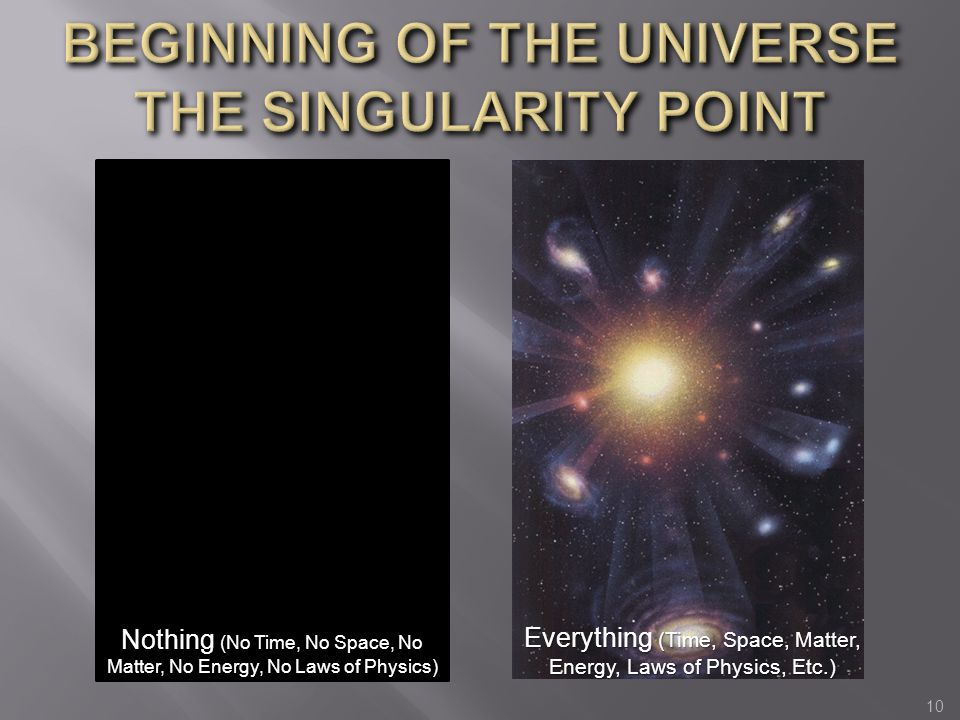 BEGINNING OF THE UNIVERSE THE SINGULARITY POINT