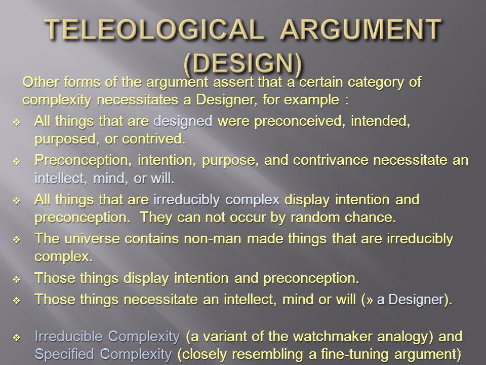 TELEOLOGICAL ARGUMENT (DESIGN)