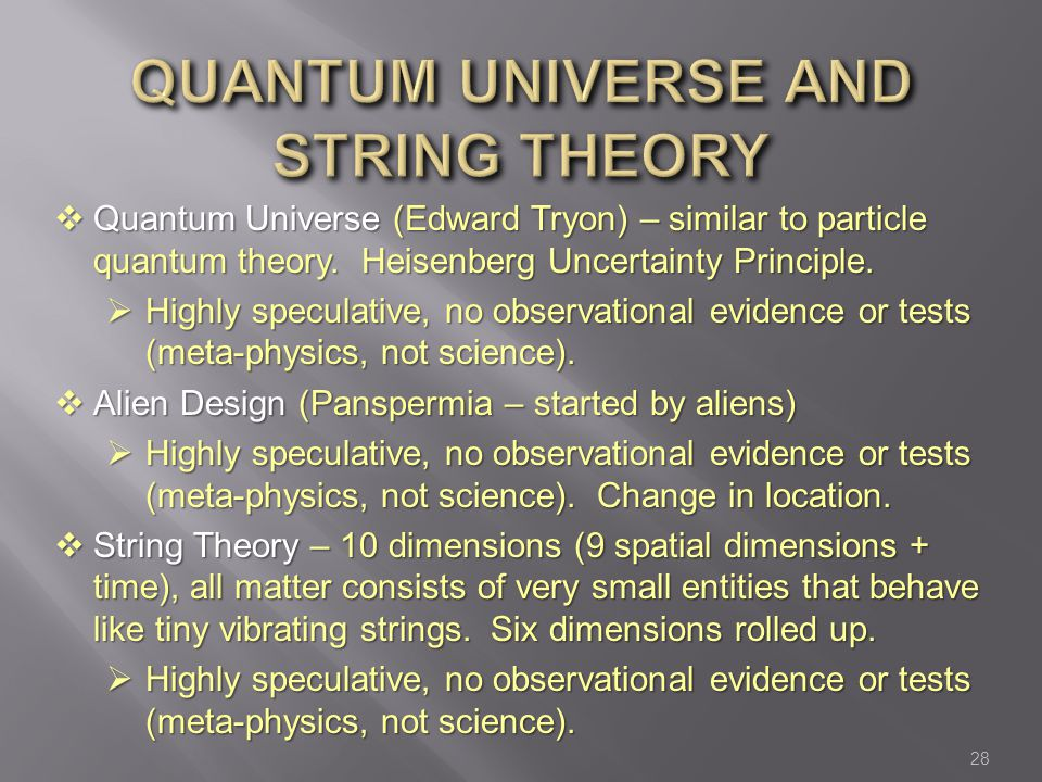 quantum universe and String Theory