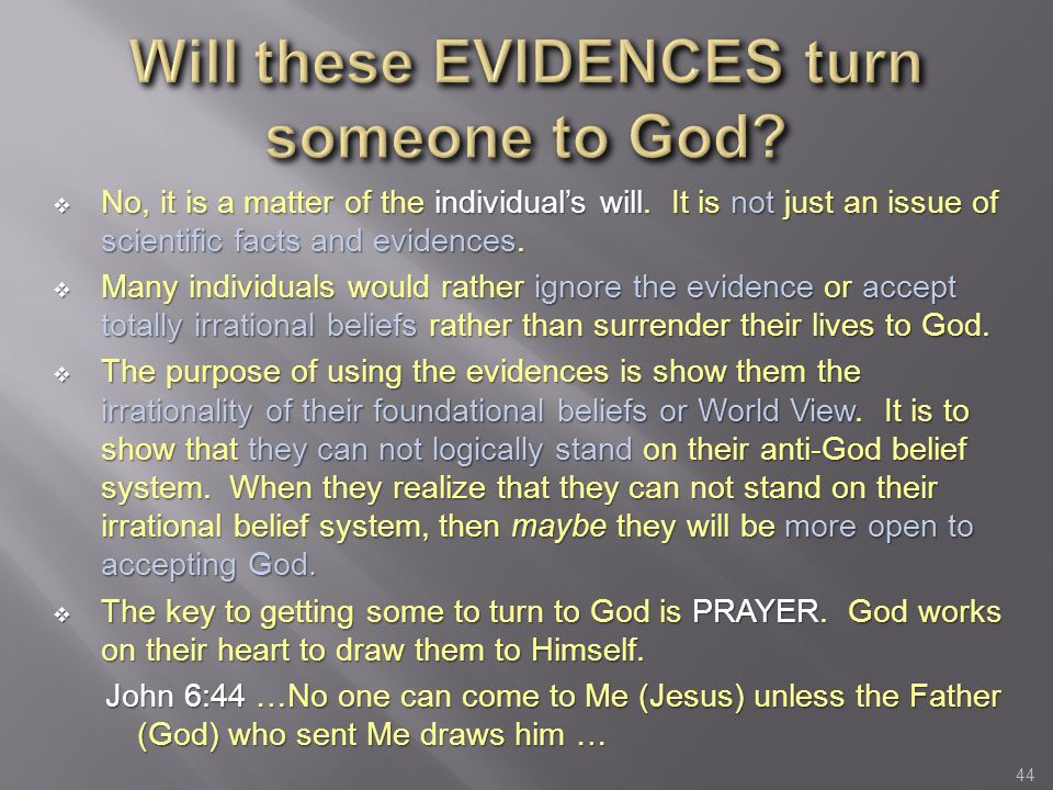 Will these EVIDENCES turn someone to God