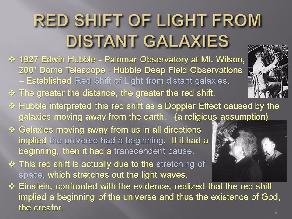 Red Shift of Light from Distant GAlaxies