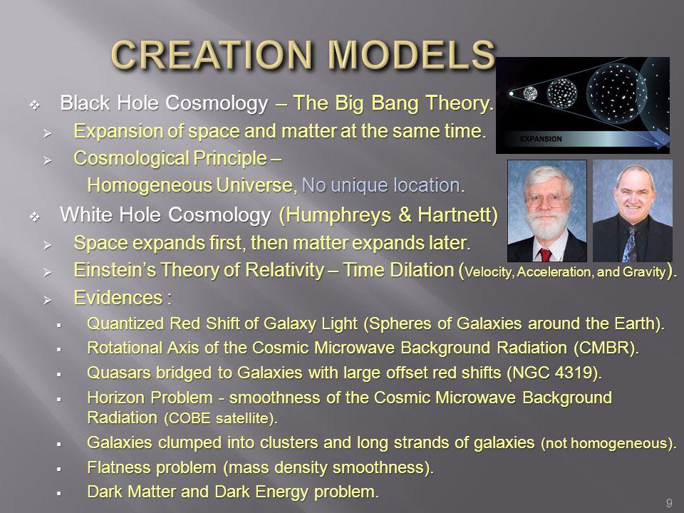 CREATION MODELS Black Hole Cosmology – The Big Bang Theory.