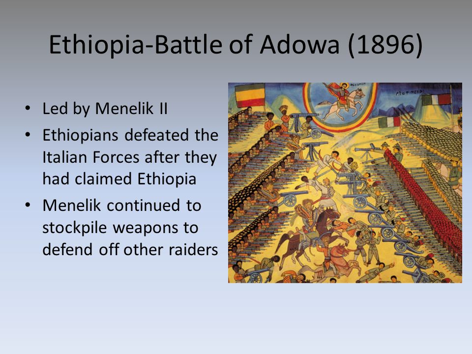 Ethiopia-Battle of Adowa (1896)