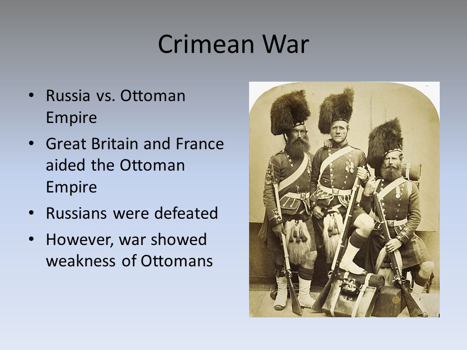 Crimean War Russia vs. Ottoman Empire