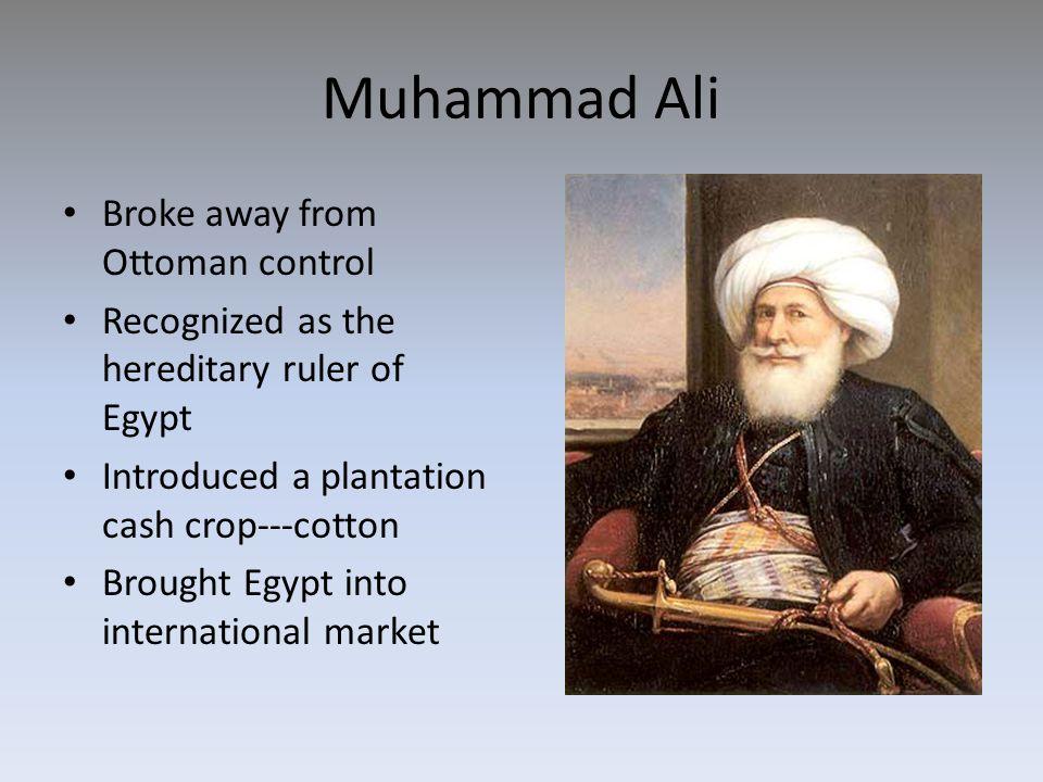 Muhammad Ali Broke away from Ottoman control