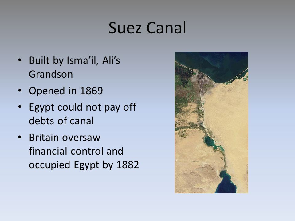 Suez Canal Built by Isma'il, Ali's Grandson Opened in 1869