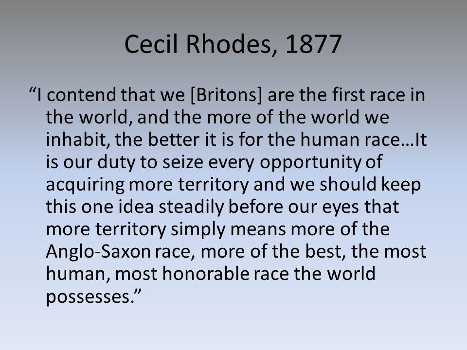 Cecil Rhodes, 1877