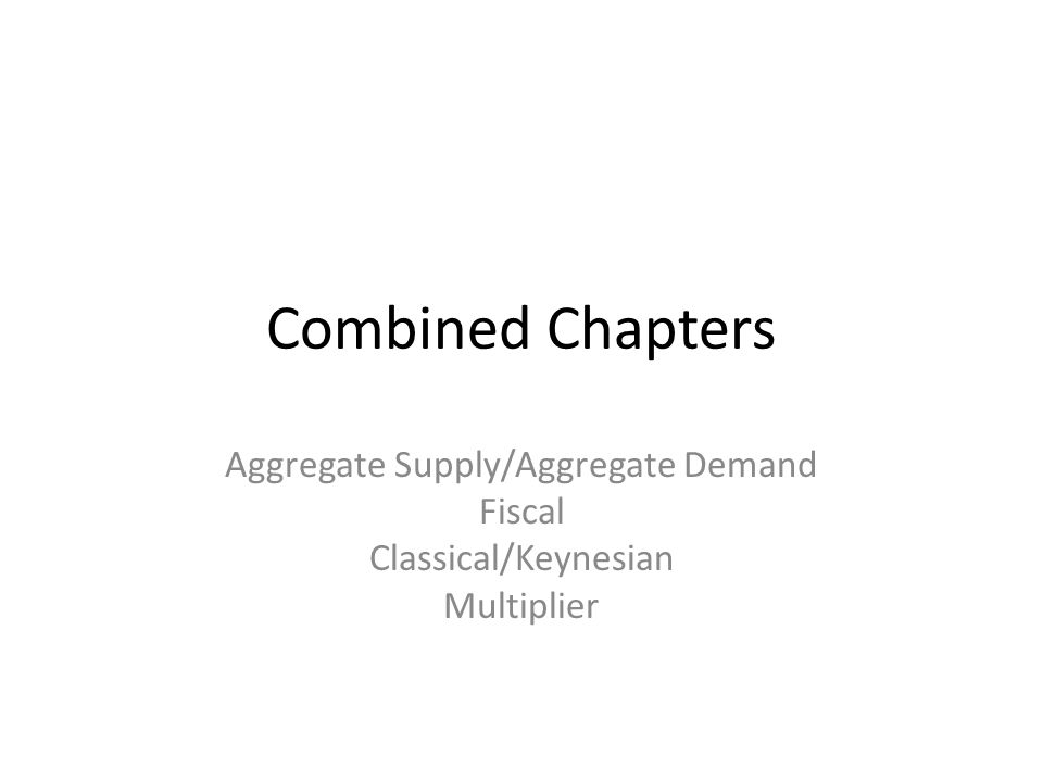 Aggregate Supply/Aggregate Demand