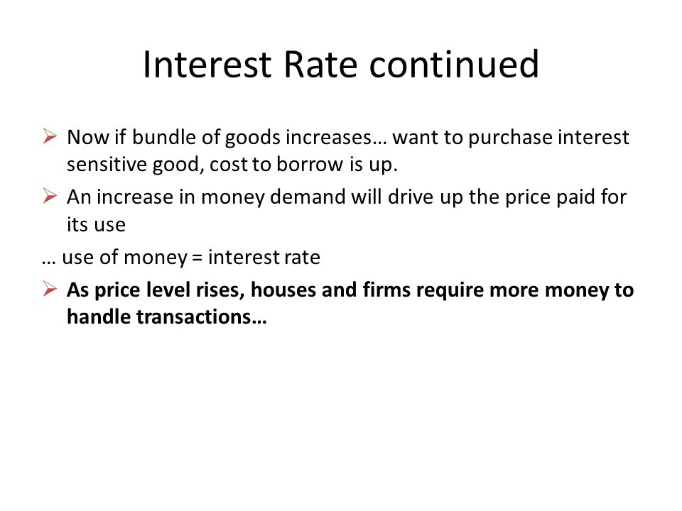 Interest Rate continued