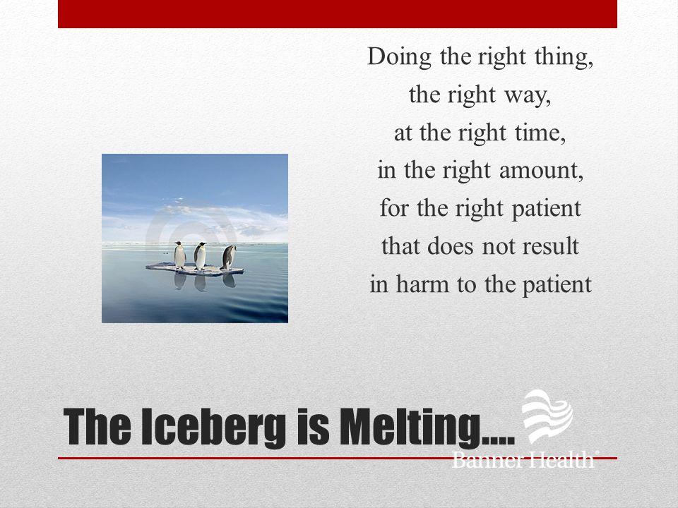 The Iceberg is Melting….
