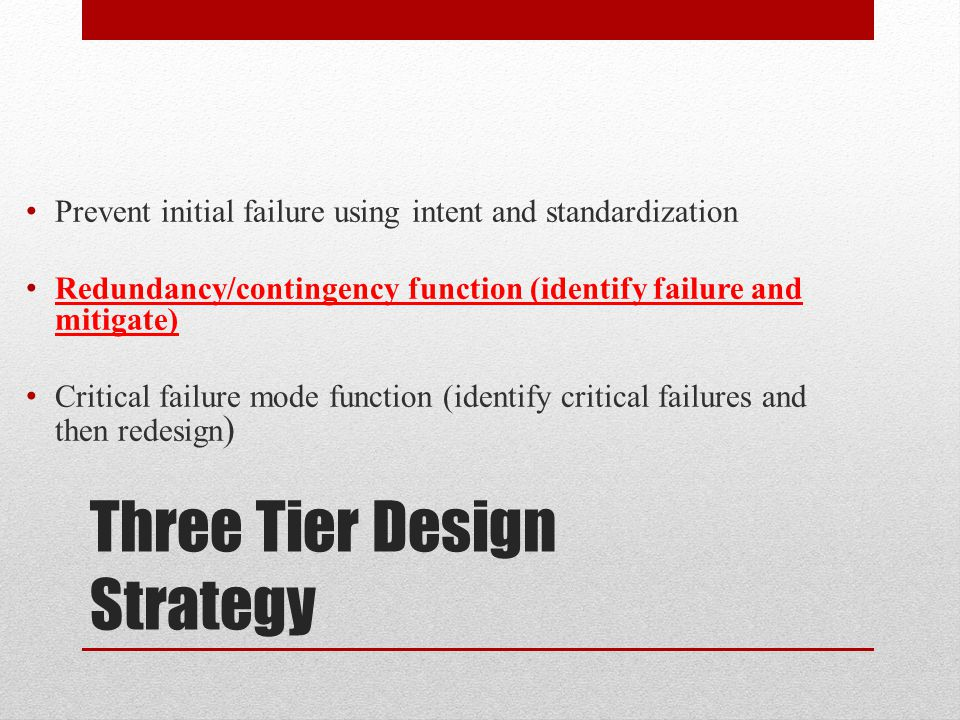 Three Tier Design Strategy