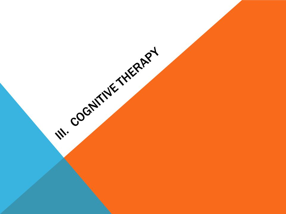 III. Cognitive Therapy