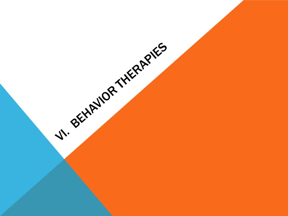 VI. Behavior Therapies