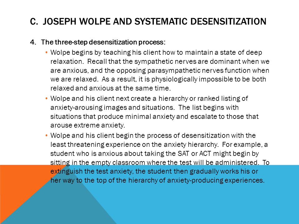 C. Joseph Wolpe and Systematic Desensitization