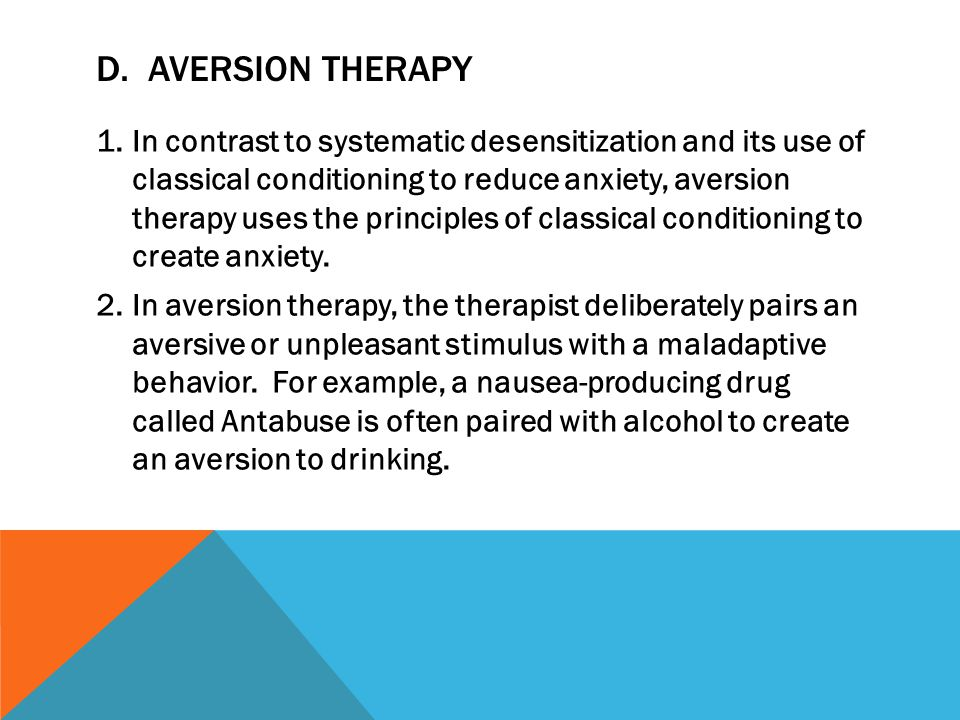 D. Aversion Therapy
