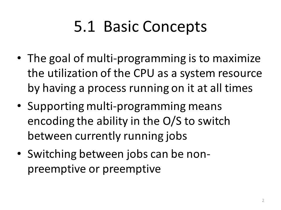 5.1 Basic Concepts