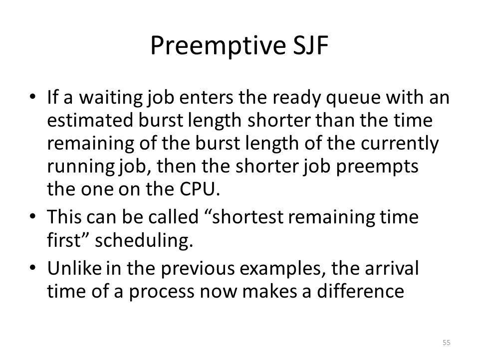 Preemptive SJF